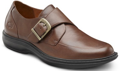 Dr. Comfort Men's Leader Chestnut Diabetic Dress Shoes