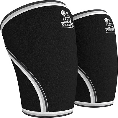 Nordic Knee Sleeves (1 Pair) Support & Compression for Weightlifting