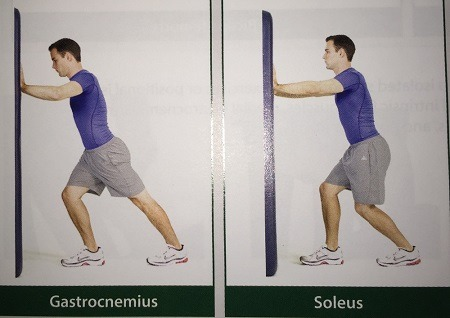 Lower and upper Calf Muscle Stretch
