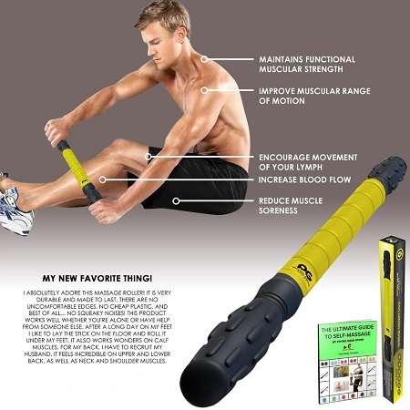 Man Using Physix Gear Sports Muscle Roller Stick