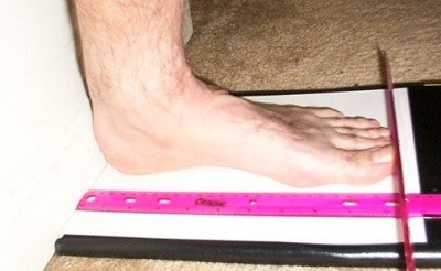 Measuring your foot.